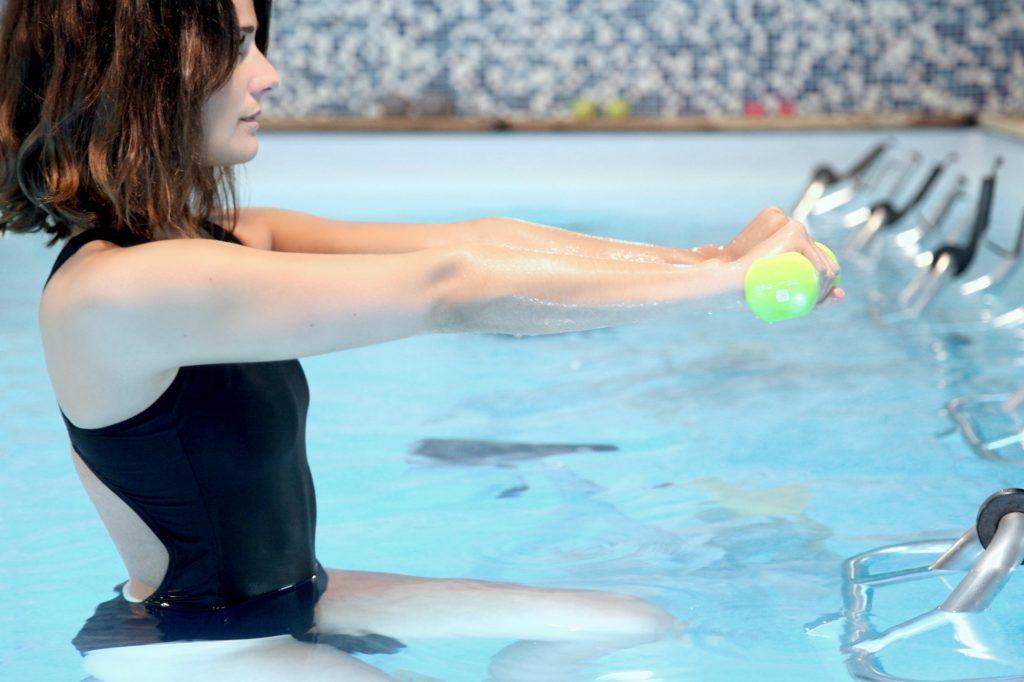 haltères-aquabiking