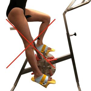 position jambes aquabiking