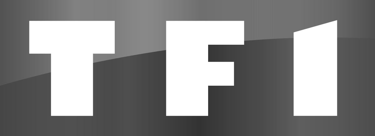Logo de TF1 en noir et blanc