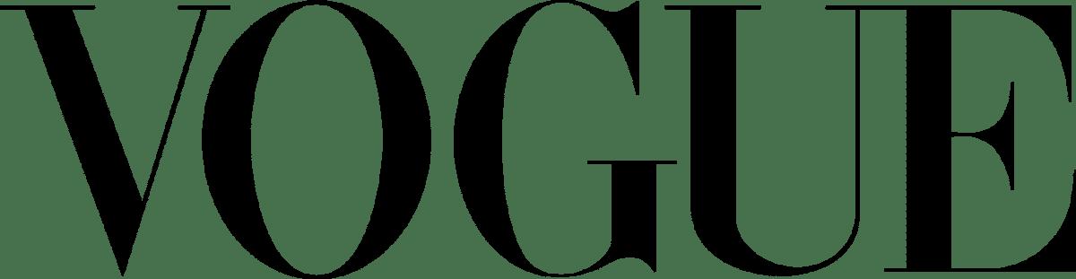Logo du magazine Vogue en noir