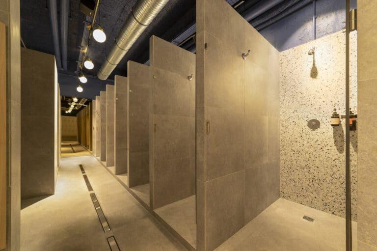 Image des douches du studio