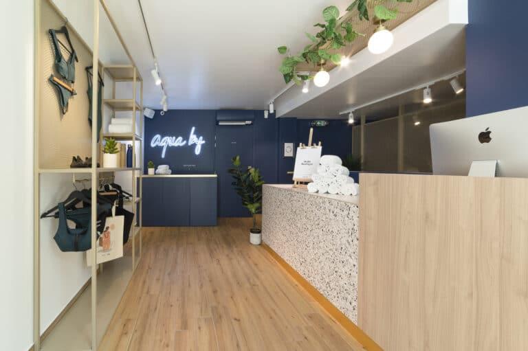 Image de l'accueil du studio d'aquabike Aqua by Boulogne