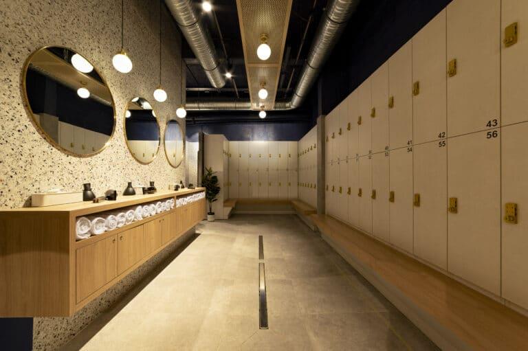 Image des vestiaires du studio Aqua by Boulogne